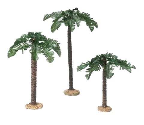 (3 Piece Set Palm Trees Single Trunk 5