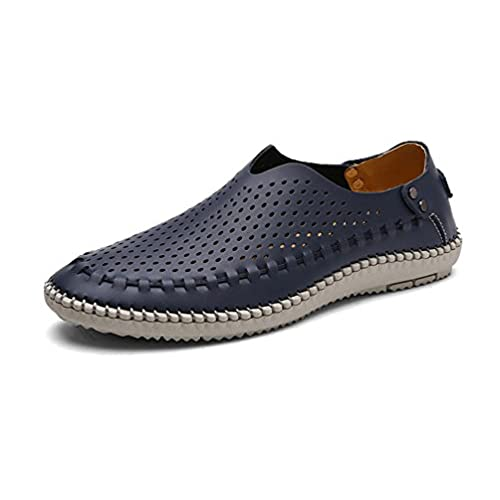 Men's Breathable Driving Loafers Comfort Slip On Flat Shoes