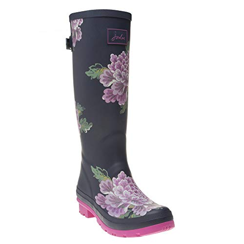 (Joules Women's Tall Welly Print Navy Chinoise 7 B US)