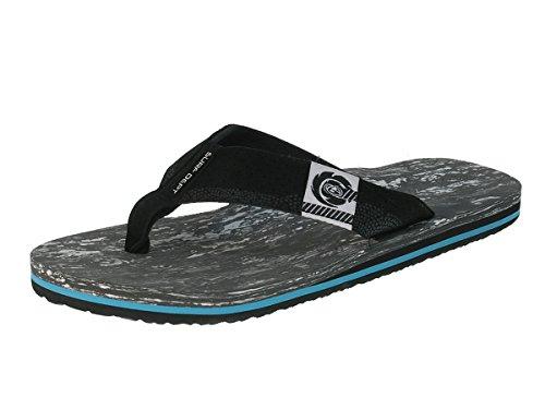 Beppi Herren Badelatschen Strandschuhe Zehentrenner Black