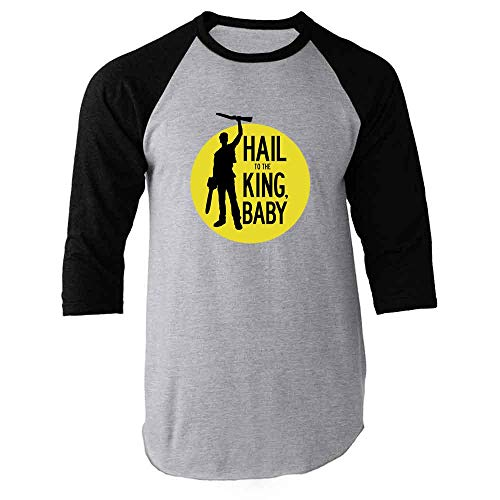 Hail to The King Baby Horror Army Zombie Black L Raglan, used for sale  Delivered anywhere in USA