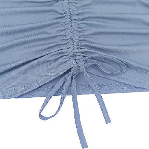 Con Dress Lunghe Volant Scollo Mini Chiaro Barca Elastico Dragon868 Donna Vestito Cerimonia Partito A Skinny Maniche Blu Elegante qUzMVSp