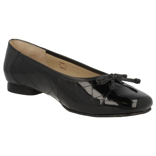 Equity , Damen Ballerinas Black Patent/Beige Quilted Full Black Patent/Quilted Patent