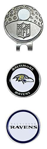 nfl-baltimore-ravens-cap-clip-with-2-golf-ball-markers