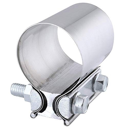 EVIL ENERGY 2.5 Inch 2 1/2 Butt Joint Exhaust Band Clamp Sleeve Stainless Steel