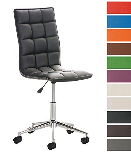 CLP Moderne Tabouret de Travail Peking, Chaise de Bureau Assise matelassée, Hauteur de l'assise 46-58 cm Noir product image
