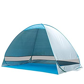 e-Joy Outdoor Automatic Pop up Portable Cabana Beach Tent 2-3 Person Camping Fishing Hiking Sun Shade Shelter Umbrella Anti UV Blue