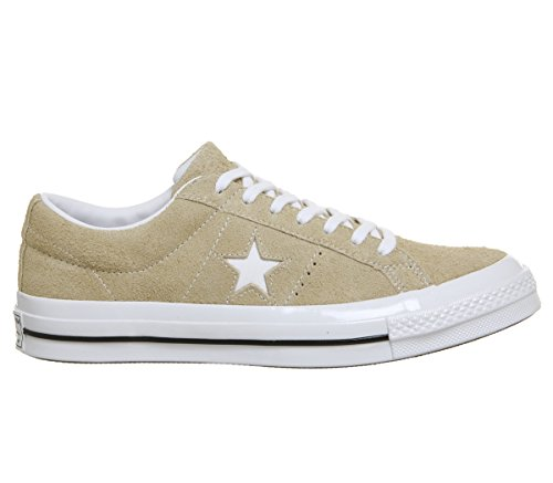 Converse Unisex Adults' Lifestyle One Star Ox Leather Fitness Shoes Vintage Khaki White 1fwBW1vylE
