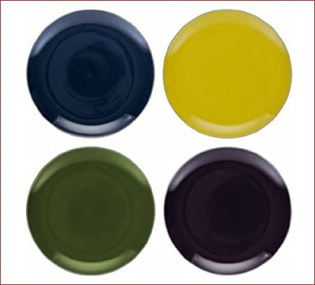 Great Colour Combination Habitat Rex Coloured Set of 4 Dinner Plates & Great Colour Combination Habitat Rex Coloured Set of 4 Dinner Plates ...