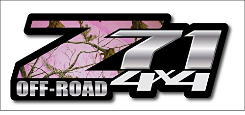 Pink Camo Chevy Z71 4x4 Decals Set of Two GMC Off Road ()