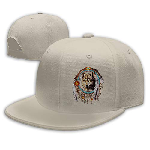 - Xuforget Wolf Dream Catcher Indian Native Adjustable Baseball Cap for Man & Women's