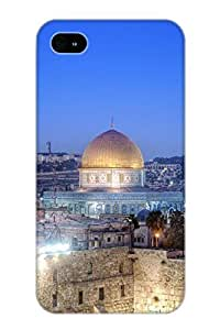 Crooningrose Premium Protective Hard Case For Iphone 4/4s- Nice Design - Western Wall And Dome Of The Rock