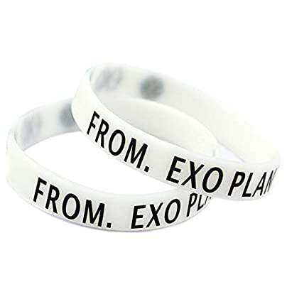Relddd Silicone Wristbands With Sayings lsquo From EXO Planet rsquo Silicone Bracelets For Kids Motivation Set Pieces Estimated Price £25.99 -
