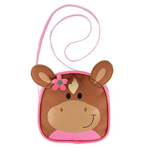 Stephen Joseph Horse Brown/Pink Crossbody Purse