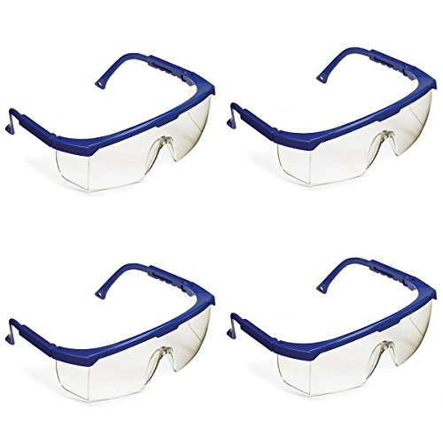 ETA hand2mind Safety Glasses with Blue Frame, Pack of 4