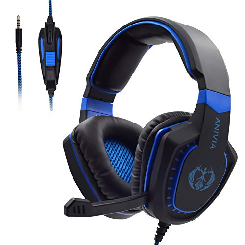 Gaming Headset with Microphone for Xbox One PC PS4 PS5 PC Gaming Headphones with Mic, AH28 Wired Over Ear Gaming…