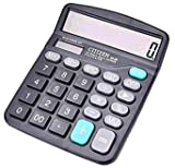 Calculators, Ubidda Standard Function Electronics Desktop Calculator, 12 Digit Large LCD Display, Handheld for Daily and Basic Office, Black