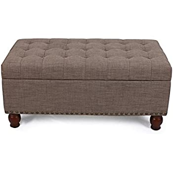 Amazon Com Asense Fabric Rectangle Tufted Lift Top