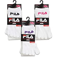 1 Pair of FILA NO-SHOW SKELE-TOES WHITE SOCKS SIZE 6-8