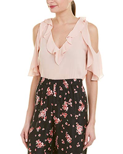 alice + olivia Womens Gia Blouse, S, Pink ()