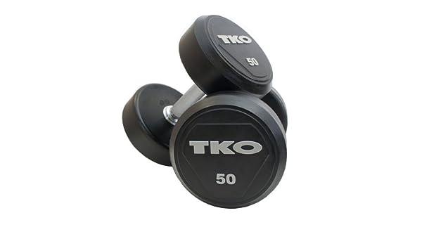 TKO juego de mancuernas 22 para completar 40 kg - caucho encerrado cabezas, manija de acero sólido, entrenamiento de fuerza, aislamiento ejercicios, pesas, ...