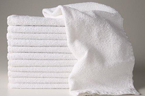Bleaching Unwanted Hair - 12 New White 22x44 100% Cotton Terry Bath/salon 6.15# Dozen Gym Towels Unused By Omni Linens