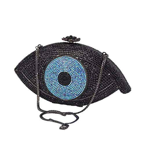 Women Pochette Purse Bag Bag eye Gold ULKpiaoliang Clutch bag Crystal Bag blue clutch Party Evening Day Evil Bag Eye Femme Silver Clutch IxTwwpqP