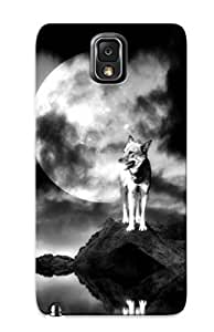 Appearance Snap-on Case Designed For Case Samsung Galaxy S5 Cover- Lonely Wolf With Full Moon(best Gifts For Lovers)
