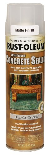 - Rust-Oleum 247167 Concrete Sealer Spray, Matte Clear, 15-Ounce