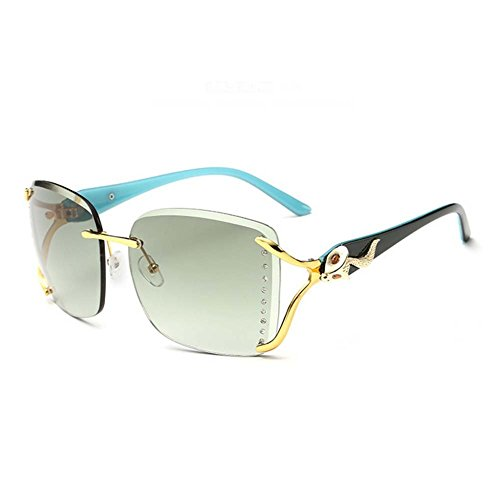 My.Monkey Lady Retro Rimless Sea Lens Elegant Persoanlity Fox - Fit Face Shape My What Sunglasses
