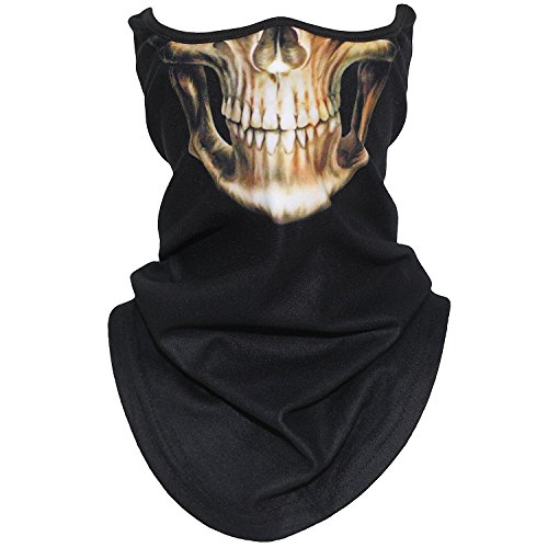 AXBXCX Animal 3D Prints Neck Gaiter Warmer Half Face Mask Scarf Windproof Dust UV Sun Protection for Skiing Snowboarding Snowmobile Halloween Cosplay Skull Skeleton -