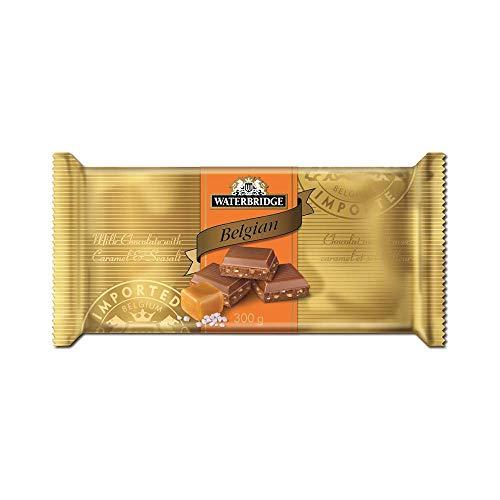 (Waterbridge Belgian Milk Chocolate Caramel Seasalt Bar 300g)