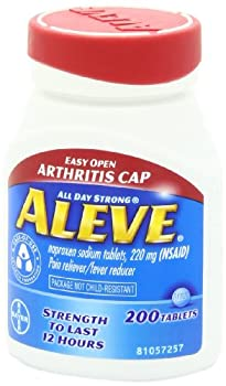 Aleve Tablets With Easy Open Arthritis Cap, Naproxen Sodium, 220mg (Nsaid) Pain Relieverfever Reducer, 200 Count (Pack Of 2) 7