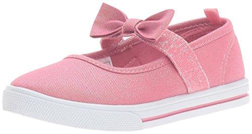 Pink Canvas Mary Jane (carter's Girls' TASHA2 Mary Jane, Pink, 10 M US Toddler)