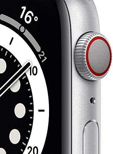 Nuevo AppleWatch Series6 (GPS + Cellular)- Caja de aluminio color plata de 44mm- Correa deportiva blanca - Estándar 4