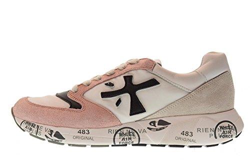Zacd Rosa Zac Donna 3057 Premiata Sneakers Bianco Basse Scarpe wq48xOX1
