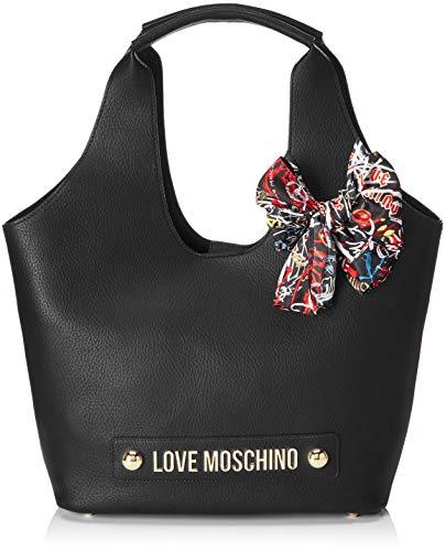 Bolsos Maletín Love Moschino Borsa Bonded Mujer Negro Pu nero UOOFzcWHv