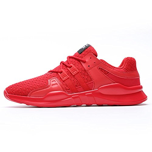 TUOKING Mens Casual Walking Shoes Breathable Fashion Sneakers Durable Sports Shoes Lightweight Athletic Shoes Red L25tNy