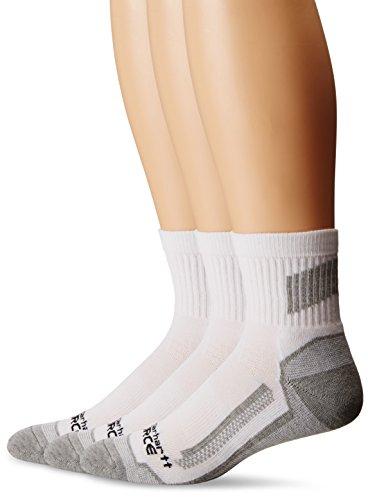 Carhartt Men's Force Performance Work Short Boot Crew Socks, White, Shoe Size: 6-12