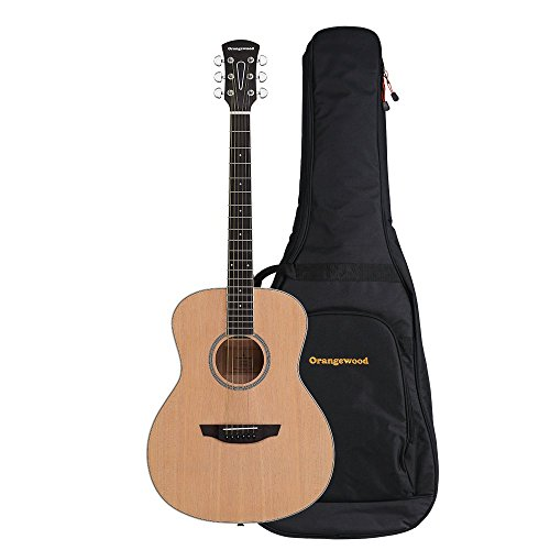 Orangewood Victoria Grand Concert Acoustic Guitar with Spruce Top, Ernie Ball Earthwood Strings, and Premium Padded Gig Bag Included ()
