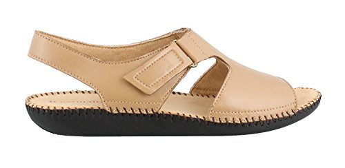 Women's Heel Biscuit Naturalizer Sandals Scout Low Leather dfwgC8Rqx