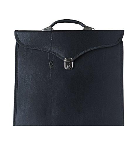 Masonic Regalia Smart Briefcase for MM/WM Apron HRD Black MB001