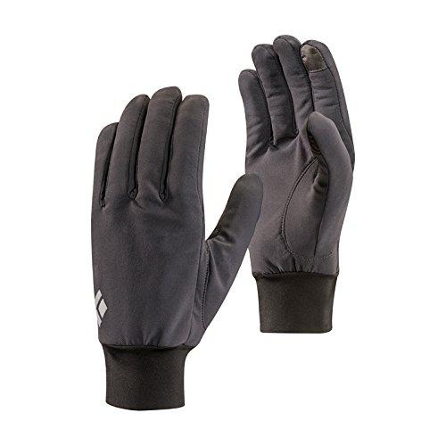 Black Diamond BD801046SMOKLG_1 Lightweight Softshell Gloves, Smoke, Large