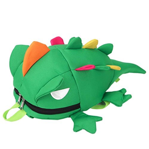 Leegor Kids Cute Cartoon Lizard Zipper Backpack School Bags Satchel Shoulder Bag (Padded Lizard)
