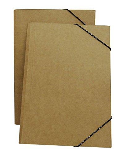 (Zebra A4 Conference Pad Binder Document File Folder Kraft Paper Presentation Folder - Pack of 10)