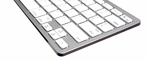 [해외]NewVan Tech 87 iPad Air, iPad Mini, iPad Mini 2, iPad 2 3 4, Galaxy Tab 및 기타 태블릿을위한 울트라 슬림, Bluetooth, 휴대용, 무선 키보드/NewVan