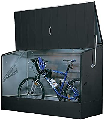 Tepro Caja para guardar bicicletas, color antracita: Amazon.es: Jardín