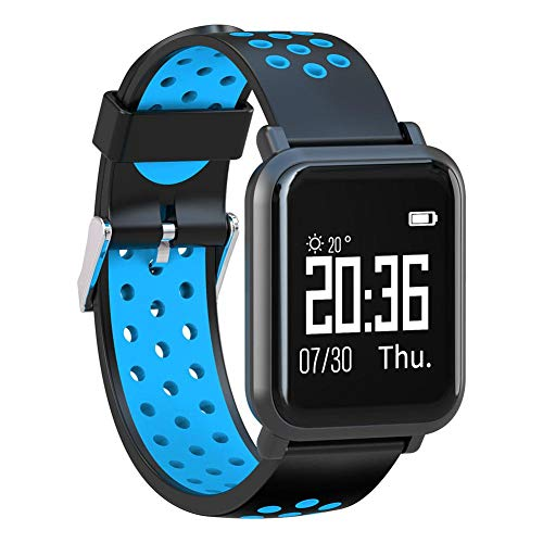 Alloet SN60 Bluetooth Waterproof Touch Screen Heart Rate Monitor Bracelet(Blue) by Alloet