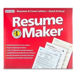 amazon com individual software resumemaker 16 resumes cover