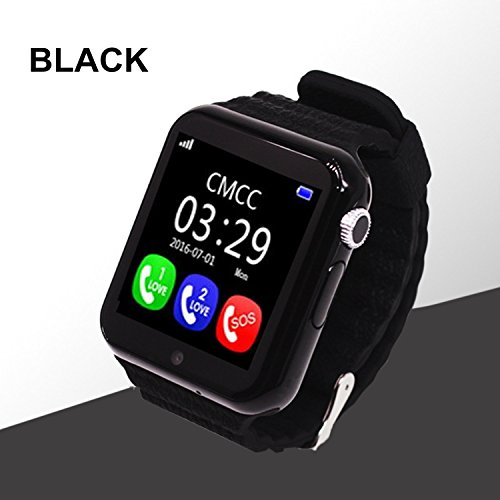 Smart Watch for Kids, GIZEE GPS Tracker Wrist Watch with Camera Anti-Lost SOS Remote Monitor for Children Safety, Compatible with iOS Android iPhone Samsung etc. (Black)